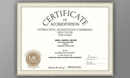 Vein Center Accreditation First Anniversary at Happel Laser